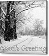 Winter White Season's Greeting Card Acrylic Print by Carol Groenen