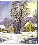 Wintertime In The Country Acrylic Print by Carol Wisniewski