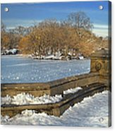 Wintery Afternoon At Bathsheba Terrace Acrylic Print by Muriel Levison Goodwin