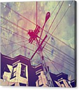 Wires Acrylic Print by Giuseppe Cristiano