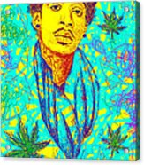Wiz Khalifa Drawing In Line Acrylic Print by Pierre Louis