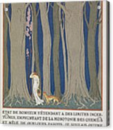 Woman Followed By A Leopard Acrylic Print by Georges Barbier