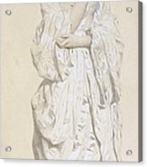 Woman In A Dressing Gown Acrylic Print by French School