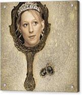 Woman In Mirror Acrylic Print by Amanda Elwell
