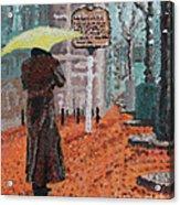 Woman With Umbrella Acrylic Print by Robert Yaeger
