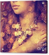Woman's Decollete Acrylic Print by Jelena Jovanovic