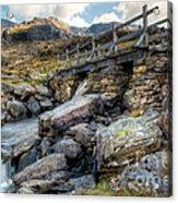 Wooden Bridge Acrylic Print by Adrian Evans