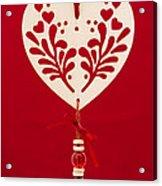 Wooden Heart Acrylic Print by Anne Gilbert
