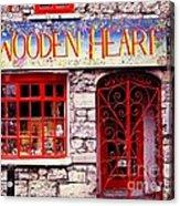 Wooden Heart Acrylic Print by Ranjini Kandasamy