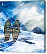 Wooden Snowshoes  Acrylic Print by Bob Orsillo