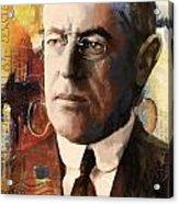 Woodrow Wilson Acrylic Print by Corporate Art Task Force