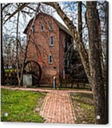 Wood's Grist Mill In Hobart Indiana Acrylic Print by Paul Velgos