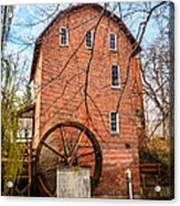 Wood's Grist Mill In Northwest Indiana Acrylic Print by Paul Velgos