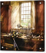 Woodworker - Many Old Tools Acrylic Print by Mike Savad