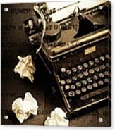 Words Punched On To Paper Acrylic Print by Edward Fielding