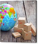 World Import And Export Acrylic Print by Aged Pixel