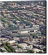 Wrigley Field - Home Of The Chicago Cubs Acrylic Print by Adam Romanowicz