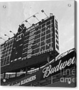 Wrigley Scoreboard Sans Color Acrylic Print by David Bearden