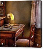 Writer - Desk Of An Inventor Acrylic Print by Mike Savad