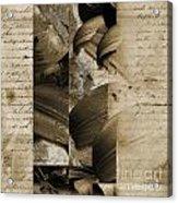 Written IIi Acrylic Print by Yanni Theodorou