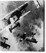 Wwi German British Dogfight Acrylic Print by Nypl