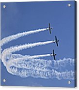 Yaks Aerobatics Team Acrylic Print by Jane Rix