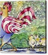 Yankee-doodle-doo Acrylic Print by Linda Shelton