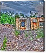 Yard Office Shack Acrylic Print by MJ Olsen