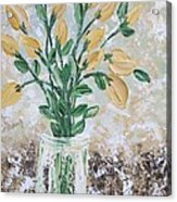 Yellow Bouquet Acrylic Print by Molly Roberts