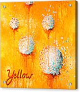 Yellow Acrylic Print by Michelle Boudreaux