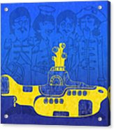 Yellow Submarine Acrylic Print by Andee Design