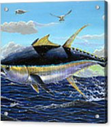 Yellowfin Crash Off0081 Acrylic Print by Carey Chen
