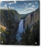 Yellowstone River Lower Falls Acrylic Print by Michael J Bauer