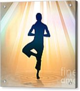 Yoga Balance Acrylic Print by Bedros Awak