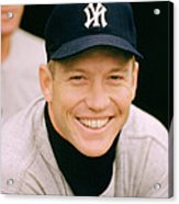 Mickey Mantle Smile Acrylic Print by Retro Images Archive