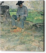 Young Routy At Celeyran Acrylic Print by Henri de Toulouse-Lautrec