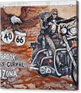Young's Corral In Holbrook Az On Route 66 - The Mother Road Acrylic Print by Christine Till