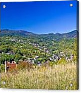 Zagreb Hillside Green Zone Nature Acrylic Print by Brch Photography