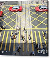 Zebra Crossing - Hong Kong Acrylic Print by Matteo Colombo