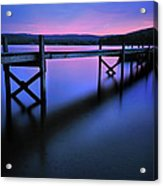 Zen At Lake Waramaug Acrylic Print by Thomas Schoeller