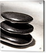 Zen Stones Acrylic Print by Olivier Le Queinec
