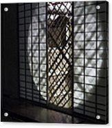 Zen Temple Window - Kyoto Acrylic Print by Daniel Hagerman