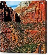 Zion Hairpin Acrylic Print by Benjamin Yeager