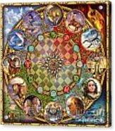 Zodiac Mandala Acrylic Print by Ciro Marchetti