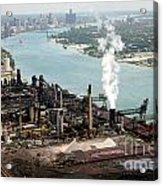 Zug Island Industrial Area Of Detroit Acrylic Print by Bill Cobb