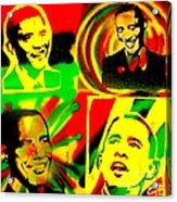 4 Rasta Obama Acrylic Print by Tony B Conscious