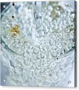 A Glass Of Water Acrylic Print by MrsRedhead Olga
