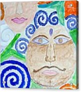 Faces Acrylic Print by Sonali Gangane