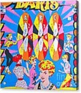 Girl Darts Acrylic Print by Beth Saffer