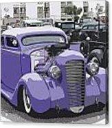 Hot Rod Purple Acrylic Print by Steve McKinzie